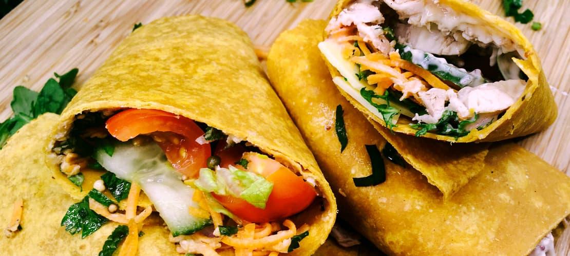 gluten-free wrap selection