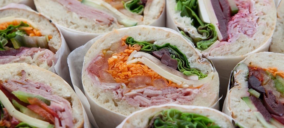 gourmet wrap selection